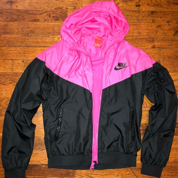 Neon Pink and Black Nike Track Jacket Sz M. M 5b4e6af12beb7942c56d3972 d4a2d6185
